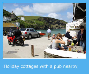 self catering cottages with a pub nearby