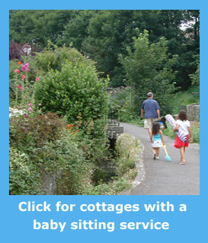 holiday cottages with a baby sitting  service o that you can have a night out