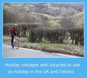 holiday cottages with bicycles