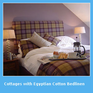 holiday cottages with egyptian cotton bedlinen