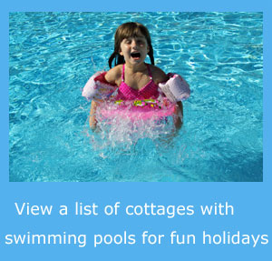 cottages with swimming pools