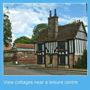 cottages with a leisure centre nearby