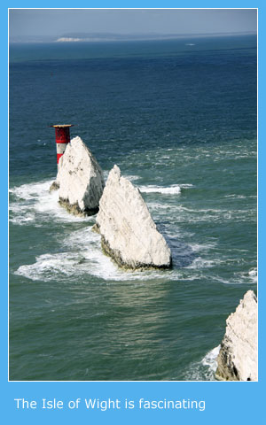 The Isle of Wight offers numerpus palces to visit
