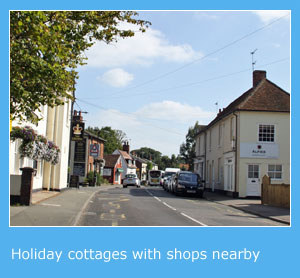 self catering holiday cottages with shops nearby