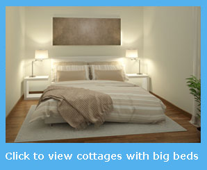 holiday cottages with a super king size bed