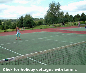 holiday cottages with tennis